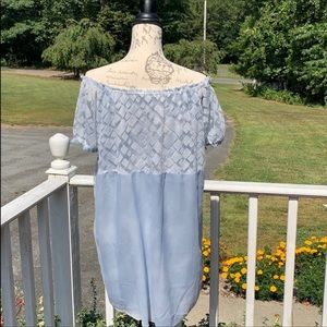 Simply Couture Powder Blue Blouse